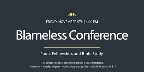 Blameless Conference tickets
