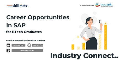 Career Opportunities in SAP for B. Tech Graduates tickets