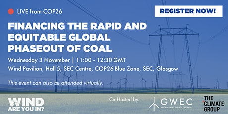 Financing the rapid and equitable global phaseout of coal tickets