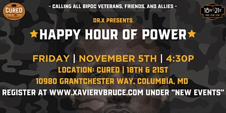 """Dr. X presents """"1st Friday Happy Hour of Power"""" at Cured