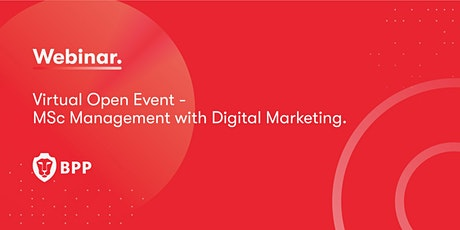 Virtual Open Event – MSc Management with Digital Marketing Tickets