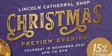 Lincoln Cathedral Shop Christmas Preview Evening tickets
