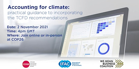 Accounting for climate: practical guidance to incorporating TCFD tickets