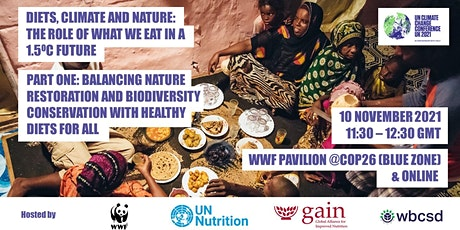 Diets, Climate & Nature - Part 1: The role of what we eat in a 1.5oC future tickets