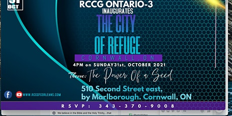 inauguration of RCCG City of refuge Cornwall tickets
