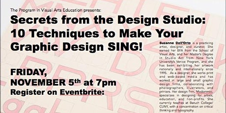 Secrets from the Studio: 10 Techniques to Make Your Graphic Design Sing tickets