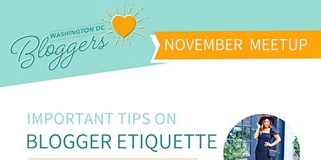 DC Bloggers Meetup: Blogger Etiquette tickets