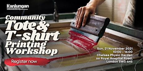 Kanlungan community tote bag and t-shirt printing workshop tickets