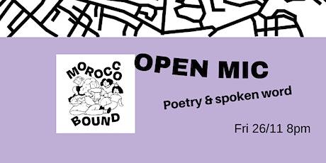 OPEN MIC: Poetry & Spoken Word tickets