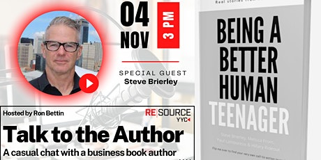 Talk to the Author with Special Guest Steve Brierley tickets