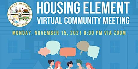 Housing Element Virtual Community Meeting tickets