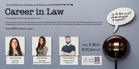 Career in Law - PCAN Student Career Series tickets