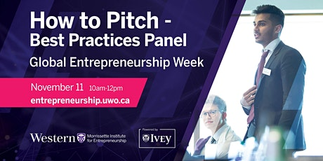 How to Pitch - Best Practices Panel tickets