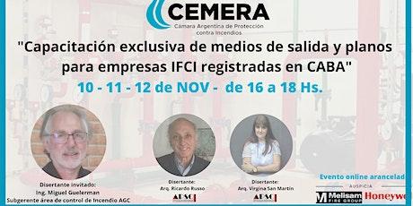 Capacitación exclusiva de medios de salida y planos para empresas IFCI-CABA entradas