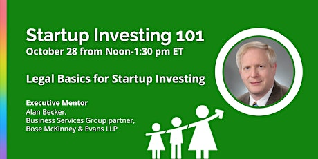 VIRTUAL Startup Investing 101 with Alan Becker tickets