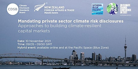 Mandating private sector climate risk disclosures tickets