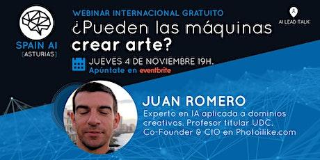 Webinar (Lead Talk): IA & Creatividad ¿Pueden las máquinas crear arte? entradas