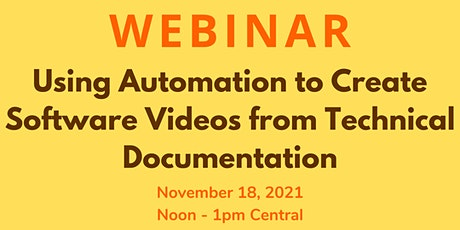 Using Automation to Create Software Videos from Technical Documentation tickets