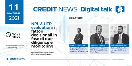 NPL & UTP evaluation: i fattori decisionali in due diligence e monitoring tickets