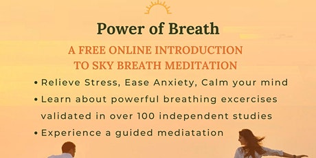 Power of Breath: A Free Online Introduction to SKY Breath & Meditation tickets