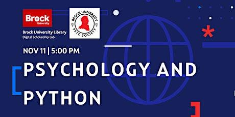 Python for Psychology part 4: Using Python to create Psychology experiments ingressos