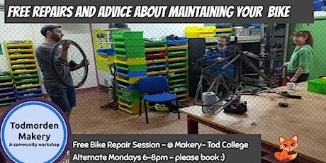 1.11.21 Bike Repair Monday Night 6-8pm Bookable Repair Session tickets