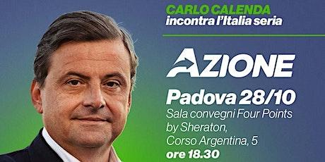 Carlo Calenda a Padova biglietti
