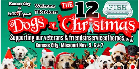 The 12 Dogs of Christmas TikTok meetup supporting veterans and F.I.S.H. tickets