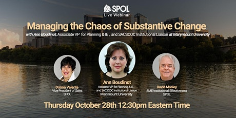 """Managing the Chaos of Substantive Change"""" featuring Ann Boudinot tickets"""