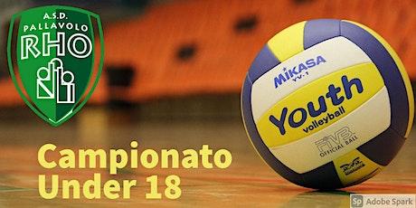 U18 ASD Pallavolo Rho vs UP12 Milano biglietti