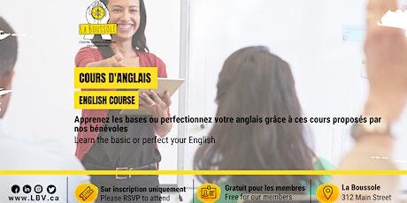 Cours d'anglais en présentiel tickets