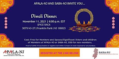 APALA-NJ and SABA-NJ's Diwali Dinner tickets