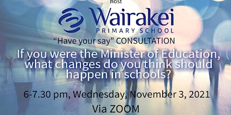 """""""Have your say"""" CONSULTATION tickets"""