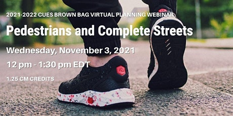 Pedestrians and Complete Streets - Webinar tickets