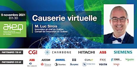 Les causeries virtuelles de l'AIEQ  - Conseil de l'innovation du Québec billets