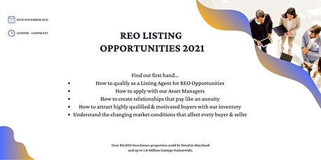 REO Opportunities tickets