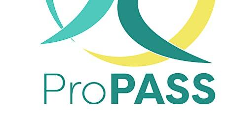 ProPASS ECR network webinar tickets