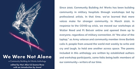 We Were Not Alone Reading & Anthology Launch tickets