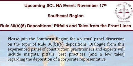 Rule 30(b)(6) Depositions: Pitfalls and Tales from the Front Lines tickets