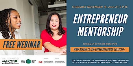 Social Entrepreneurship Webinar: Entrepreneurship Mentorship billets