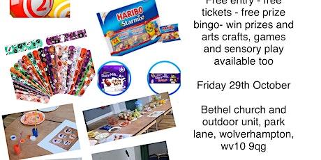 Wolverhampton - Free Fun & Games, Prize Bingo, sensory play and arts/crafts tickets