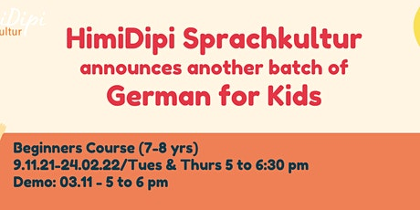Demo for Kids' German Beginners' Course (7-8 years) tickets