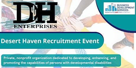 Desert Haven Recruitment Event- Nov 16 tickets