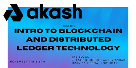Intro to blockchain and distributed ledger technology. tickets