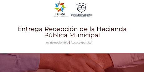 Foro Nacional Entrega Recepción de la Hacienda Pública Municipal entradas