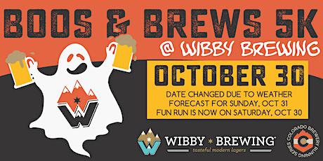 Boos & Brews 5k @ Wibby Brewing | Colorado Brewery Running Series tickets