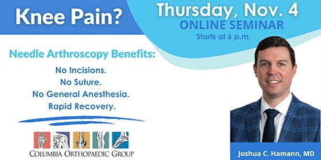 Knee Pain: Minimally Invasive Needle Arthroscopy Webinar tickets