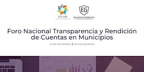 Foro Nacional Transparencia y Rendición de Cuentas en Municipios entradas