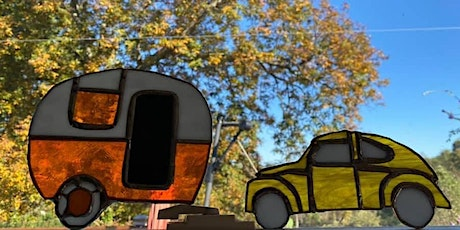 Stained Glass Camper/VW Beetle Glass Class tickets