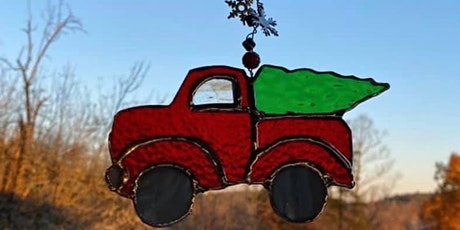 Stained Glass Red Christmas Truck tickets